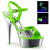 DELIGHT-609NC Neon Green/Silver Chrome
